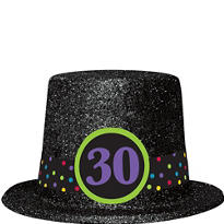 Glitter 30th Birthday Top Hat