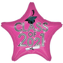 Star Class of 2015 Pink Graduation Balloon