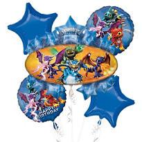 Skylanders Birthday Balloon Bouquet 5pc