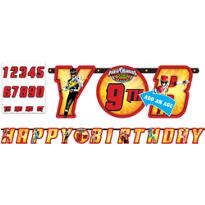 Power Rangers Birthday Banner