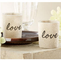 Linen Love Tealight Candle Holder