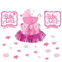 Girl Baby Shower Table Decorating Kit 23pc - Celebrate