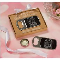 Eat, Drink & Be Married Bottle Opener