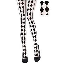Black & White Harlequin Tights