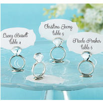 Wedding Ring Place Card Holder