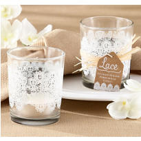 Lace Glass Tealight Candle Holder