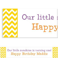 Custom Sunshine Yellow Chevron Banner 6ft