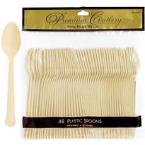 Vanilla Premium Plastic Spoons 48ct