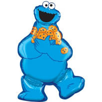 Foil Cookie Monster Balloon 31in