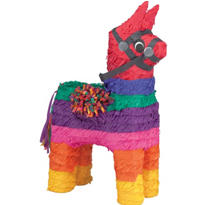 Rainbow Donkey Pinata 16in