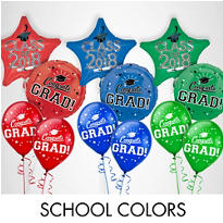 Red Graduation Balloons