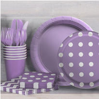 Lavender Polka Dot Party Supplies