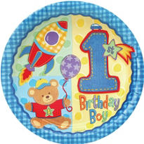 Hugs & Stitches Boy's 1st Birthday Party Supplies