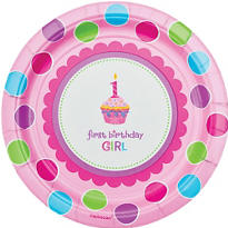 Sweet Cupcake Girl's 1st Birthday Party Supplies