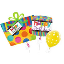 Dots & Stripes Birthday Balloons