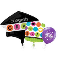 Colorful Commencement Graduation Balloons