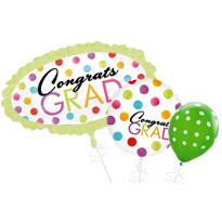 Colorful Dots Graduation Balloons
