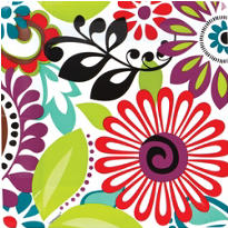 Modern Floral Party Supplies