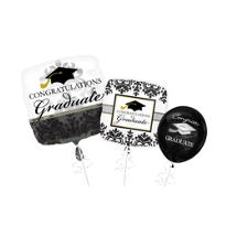 Black & White Graduation Balloons