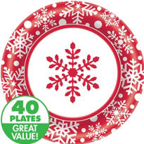 Winter Holiday Value Plates & Tableware