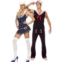 Shipmate Cutie Sailor and Retro Sailor Couples Costumes