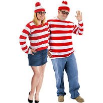 Plus Size Wenda and Plus Size Where's Waldo Couples Costumes