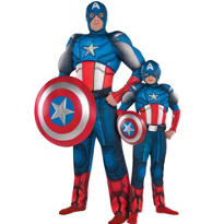 Captain America Daddy and Me Muscle Costumes