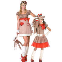 Sock Monkey Mommy and Me Costumes