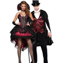 Vampire Vixen and Blood Count Vampire Couples Costumes