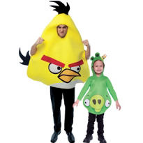 King Pig and Yellow Angry Birds Daddy and Me Costumes