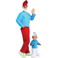 Papa Smurf Daddy and Me Costumes