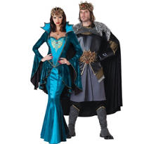 Medieval King and Queen Couples Costumes