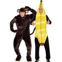Monkey and Banana Couples Costumes