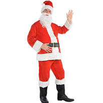 Adult Flannel Santa Suit