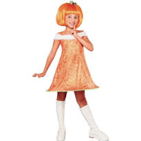Girls Pumpkin Spice Pumpkin Costume