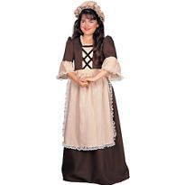Girls Colonial Girl Costume