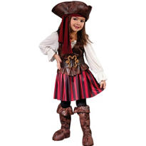 Toddler Girls High Seas Buccaneer Pirate Costume
