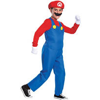 Boys Mario Costume Deluxe - Super Mario Brothers