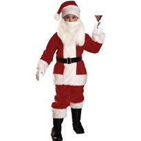 Boys Plush Santa Suit Deluxe