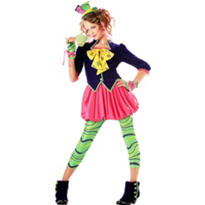 Girls Sweet Mad Hatter Costume