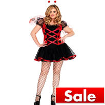 Adult Lovely Ladybug Costume Plus Size