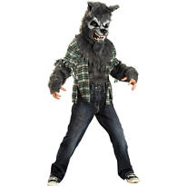 Boys Howling at the Moon Grey Werewolf Costume