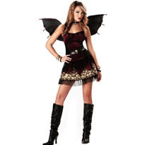 Teen Girls Strangelings Candle in the Dark Fairy Costume