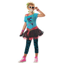 Girls 80s Valley Girl Costume