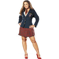 Adult Prep School Delinquent School Girl Costume Plus Size
