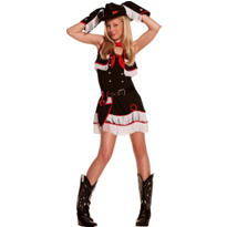 Teen Girls Cutie Cowgirl Costume