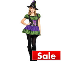 Teen Girls Hocus Pocus Witch Costume