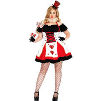Adult Pretty Playing Card Costume Plus Size