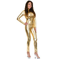 Gold Liquid Metal Unitard