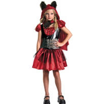 Girls Lil Red Riding Rage Costume